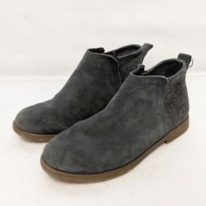 Toms Deia Forged Iron Suede Kids Booties